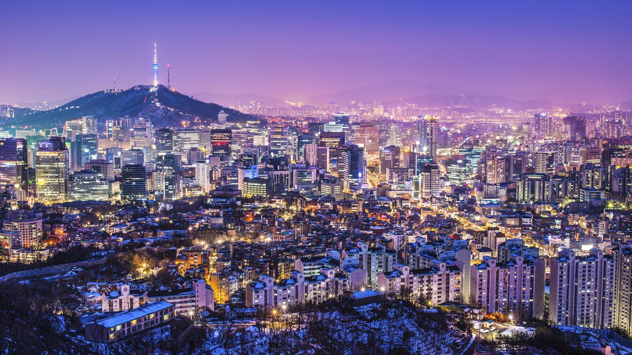 Foto Pemandangan Kota Korea Selatan