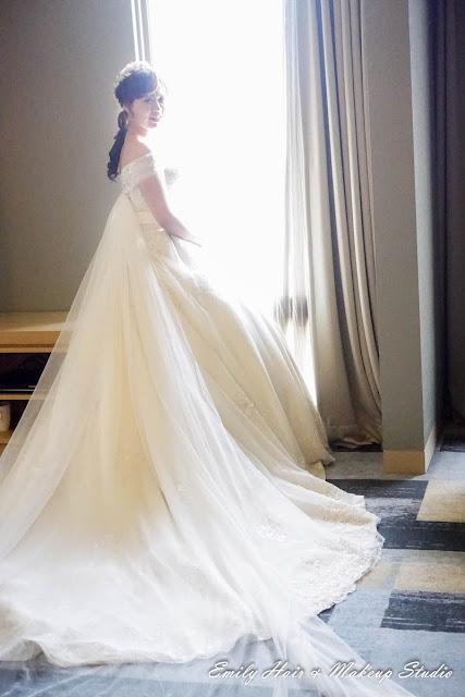 新娘白紗髮型進場造型