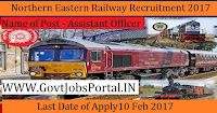 North Eastern Railway Recruitment 2017–Assistant Officer Post (426 Vacancies)