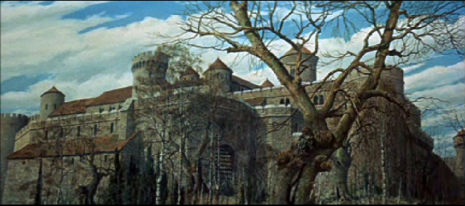 The Masque of Red Death (1964) matte painting