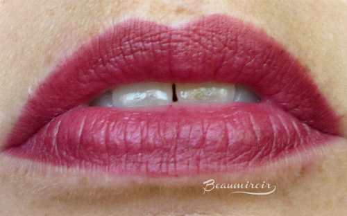 Lancome Color Design Matte Lip Crayon: lip swatch of 340 Only Wine Will Tell