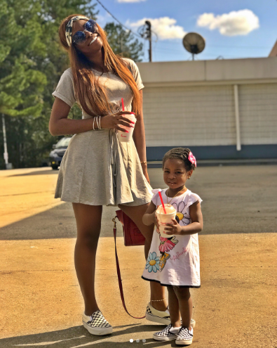 Davido's first babymama shares adorable new photos of herself with daughter Imade