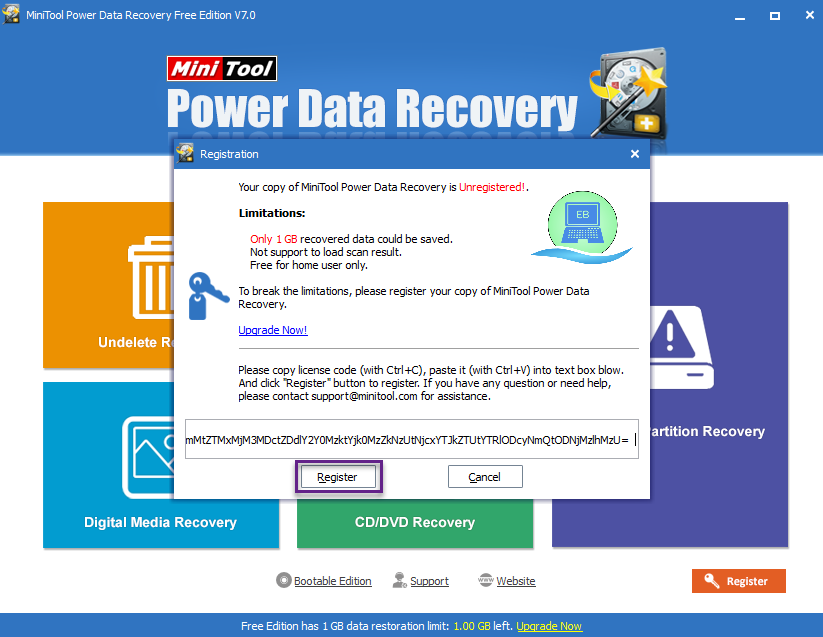 minitool partition recovery license code