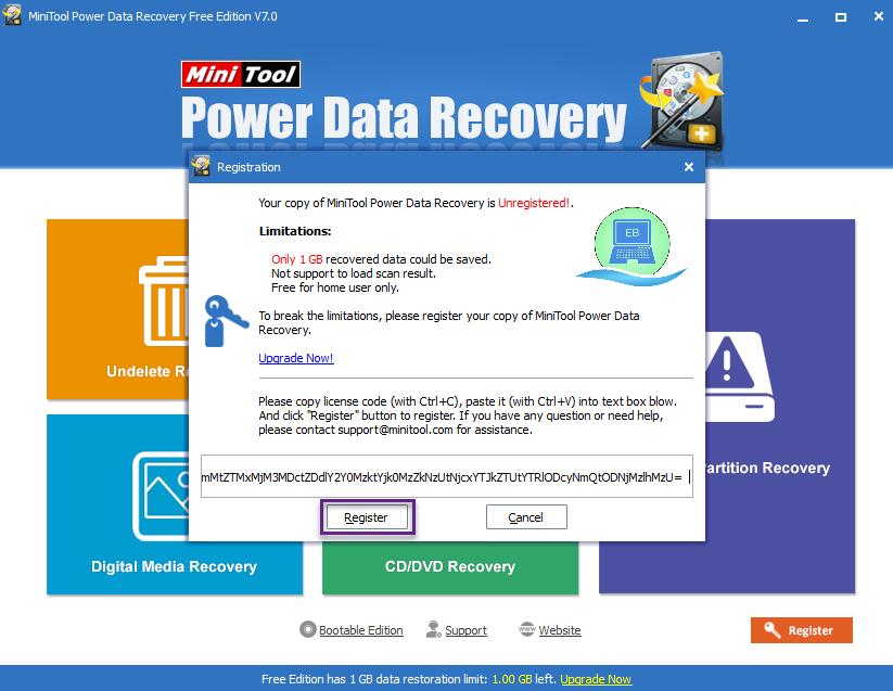 minitool power data recovery 7.5 license key