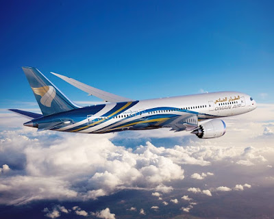 Source: Oman Air. Plane in Oman Air livery.