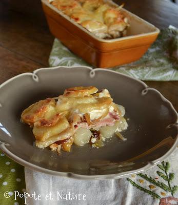 Gratin d'endives et de pommes de terre aux pommes © Popote et Nature