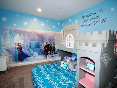 Desain Kamar Cantik Anak Perempuan Tema  Frozen