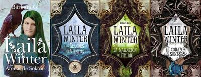 portadas libros saga Laila Winter y las arenas de Solarïe de Bárbara G. Rivero