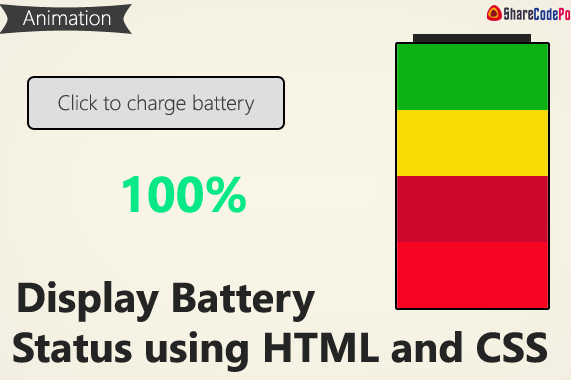 Display Battery Status using HTML and CSS