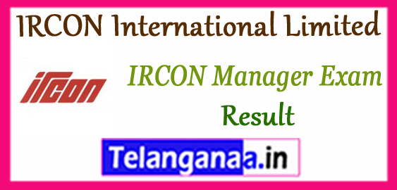 IRCON International Limited JE AE AM DM Cutoff Result 2018