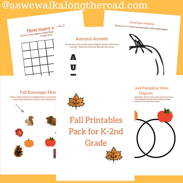 Free fall printables pack