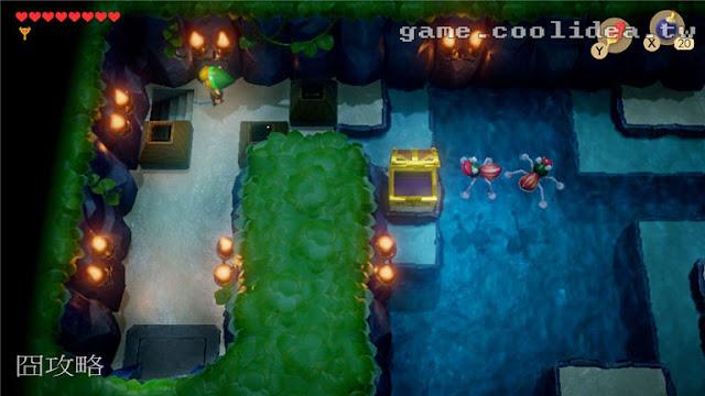 薩爾達 織夢島攻略 燈魚怪瀑布池迷宮16