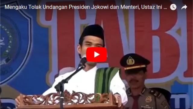 Diundang Presiden Jokowi dan Menteri untuk Ceramah, Jawaban Ustaz Abdul Somad Banjir Pujian