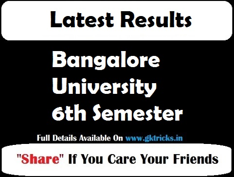 Bangalore University 6th Semester