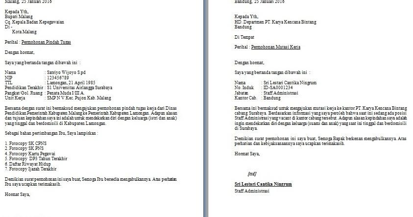 Contoh Surat Pengajuan Kenaikan Jabatan Karyawan Kumpulan Surat Penting