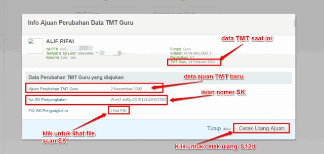 Info Ajuan Perubahan Data TMT Guru.