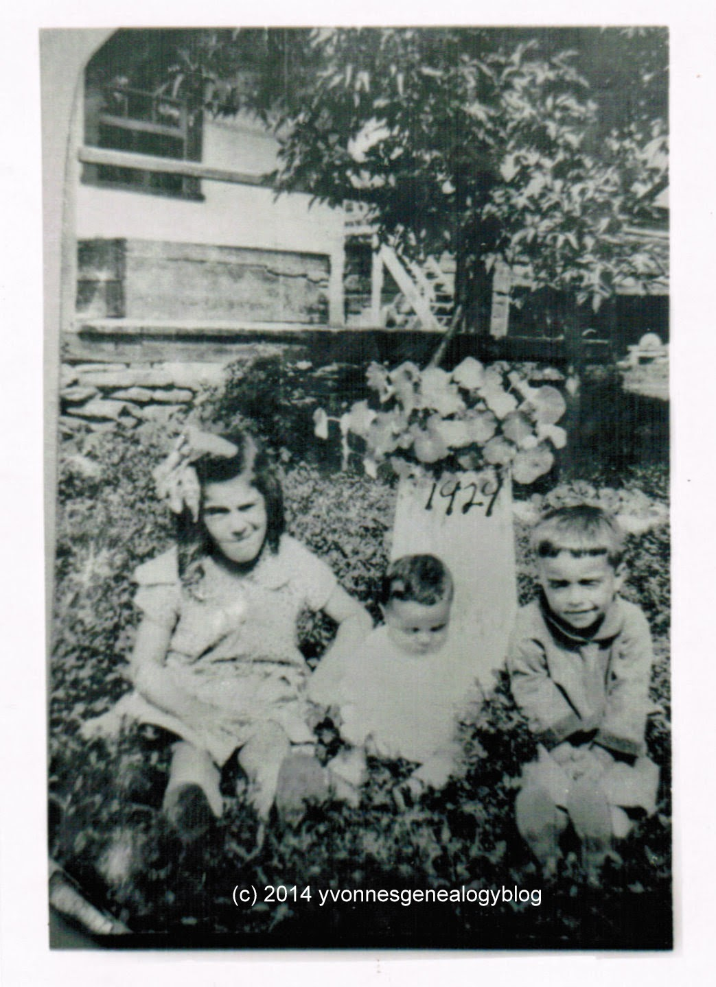 Maurice Belair with his sister Joan and their cousin Lucille