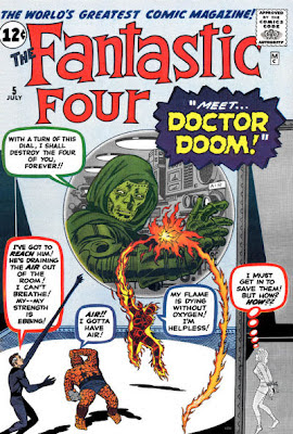 Fantastic Four #5, the Fantastic Four are trapped as Dr Doom makes his first appearance