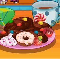 لعبة طبخ بسكويت بالشوكولاتة