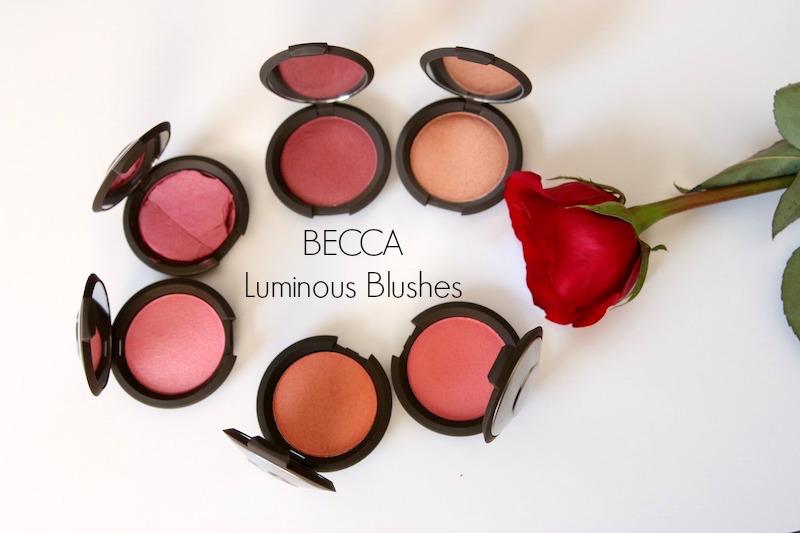 Becca luminous blushes