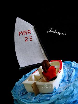 Fondant barco vela ligera