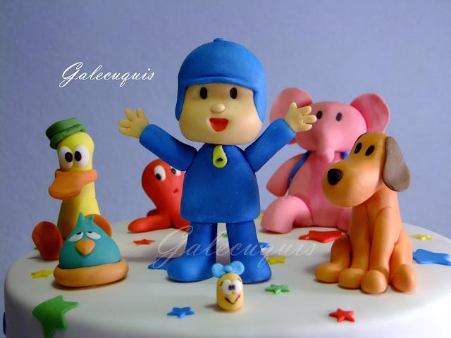 Pocoyó y sus amigos modelados en fondant