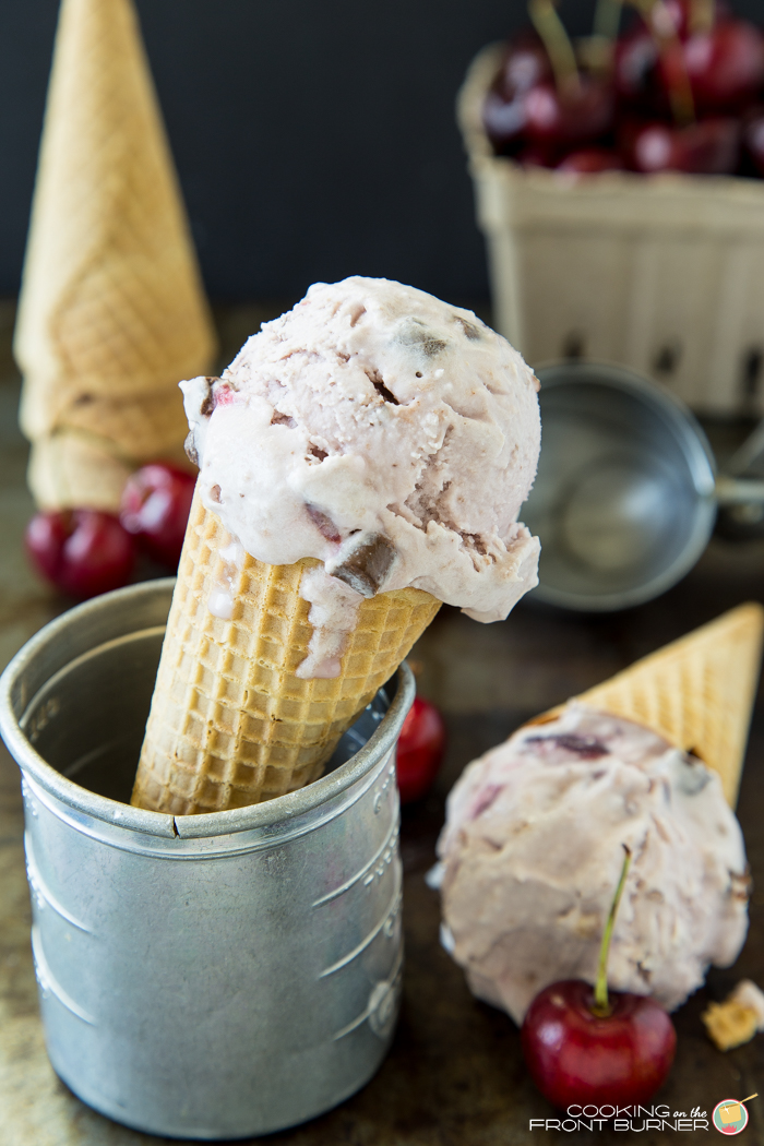Fresh Cherry Chocolate Ice Cream | Cooking on the Front Burner