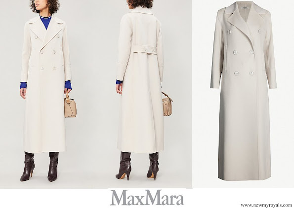 The Countess of Wessex wore MAX MARA Custodi double-breasted brushed wool coat
