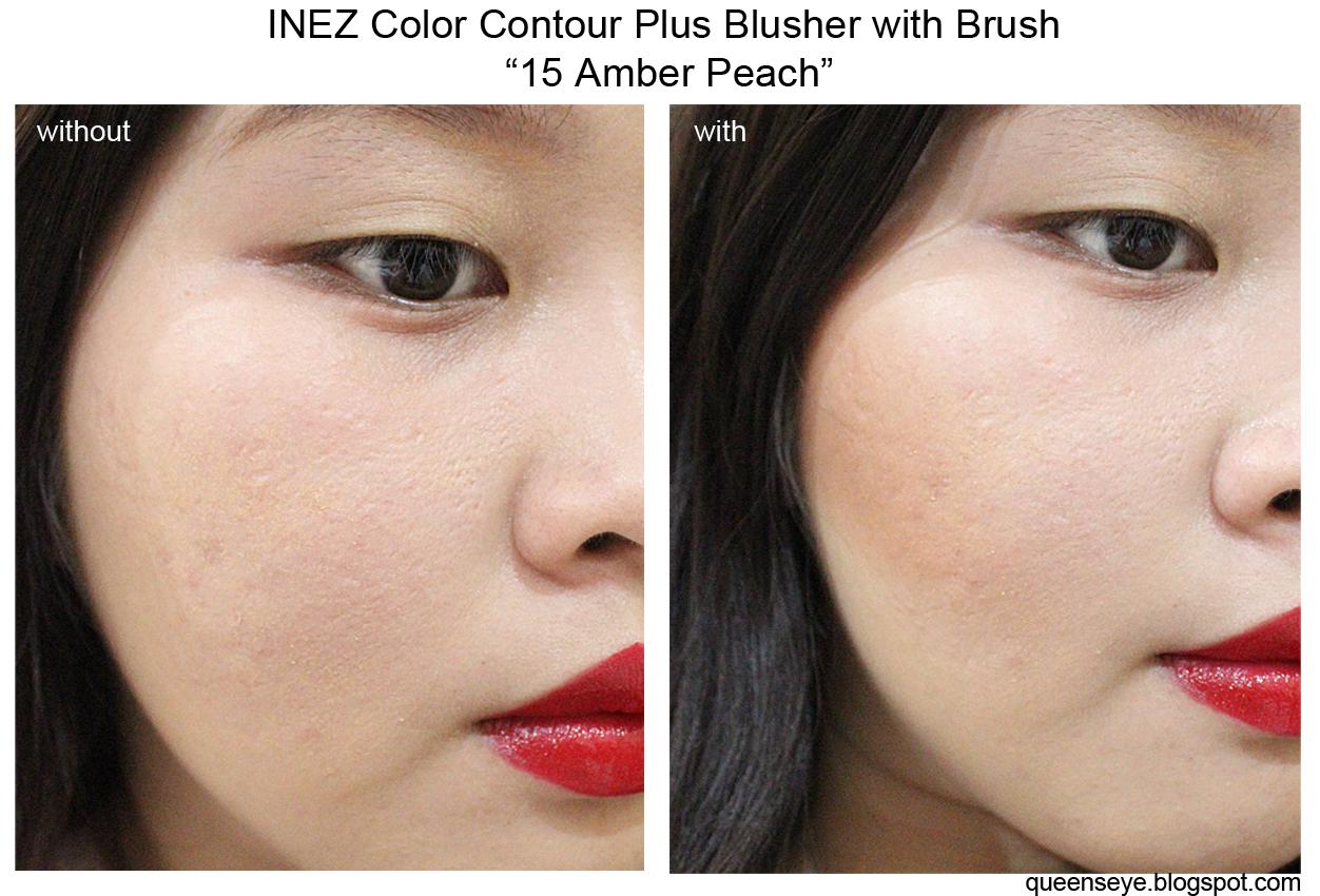 ✿ღ queen's eye ღ✿: inez color contour plus blusher with brush