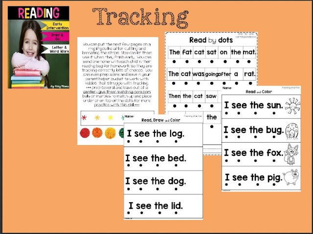 Making sure your students are tracking correctly in reading.