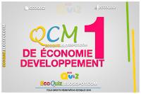 Économie du développement QCM