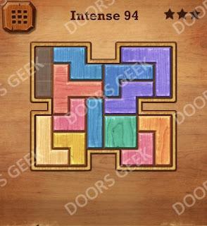 Cheats, Solutions, Walkthrough for Wood Block Puzzle Intense Level 94