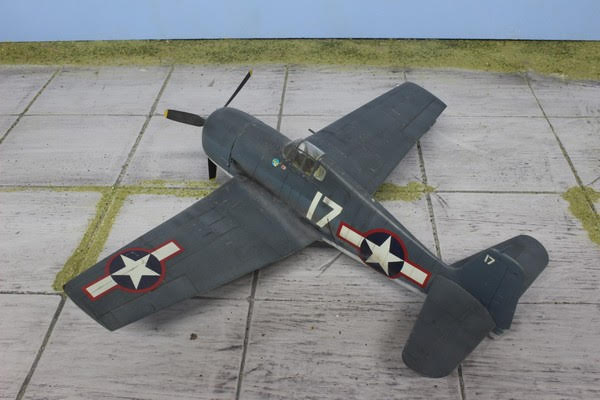 Maquette du F6F-3 Hellcat d'Hasegawa au 1/48.