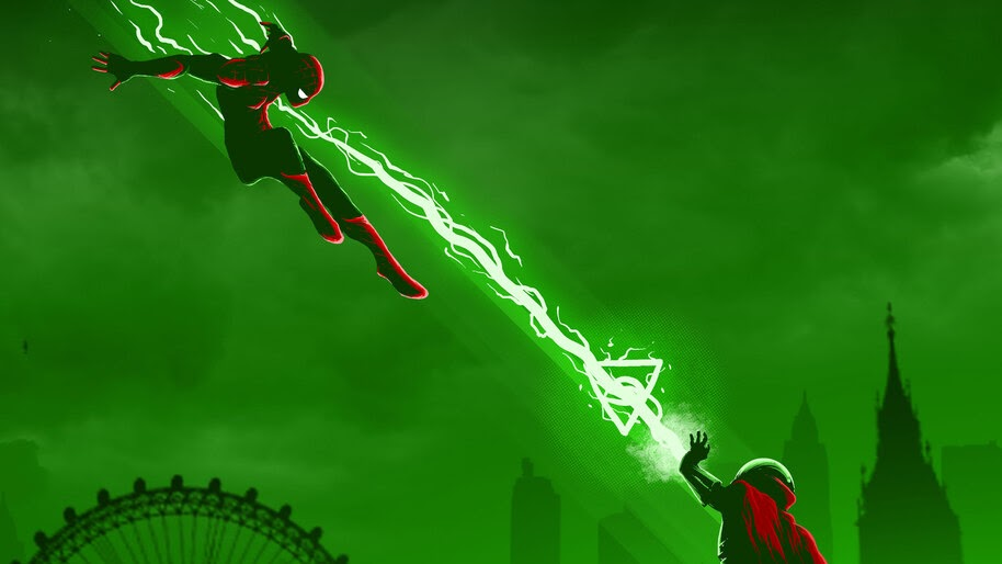 Spider Man Vs Mysterio Spider Man Far From Home 4k Wallpaper 3 1299