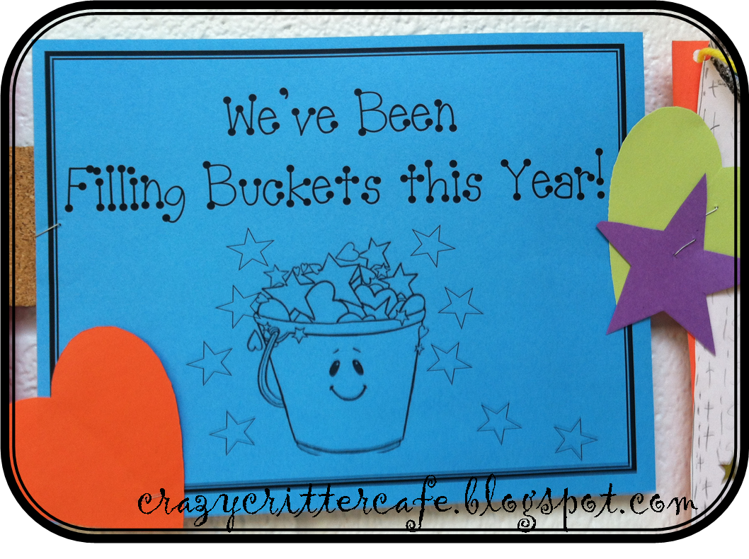 Crazy Critter Cafe Bucket Filling Craftivity End Of The Year