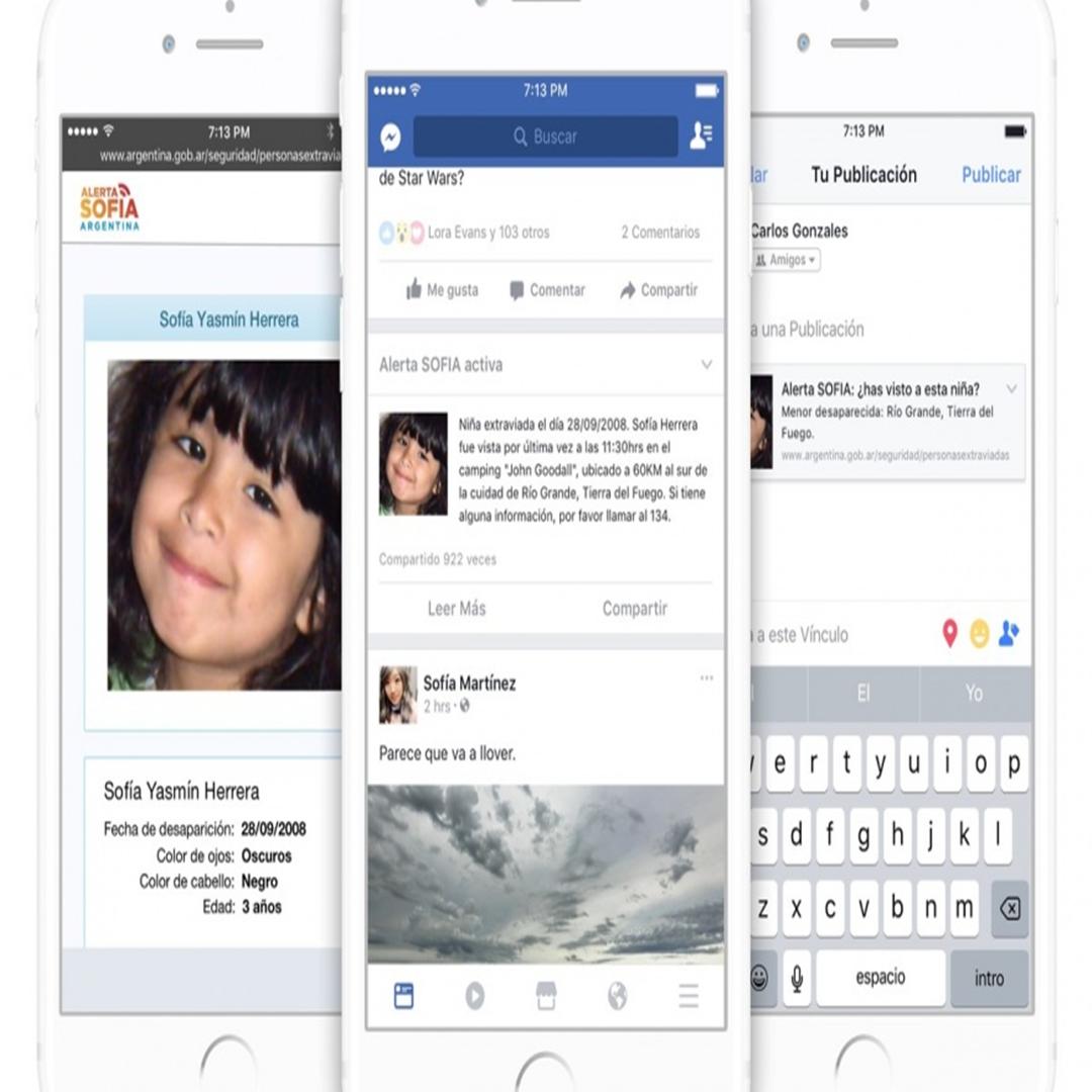 Facebook lanza Alerta Sofia por niños desaparecidos