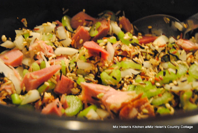 Slow Cooker Ham and Wild Rice Soup at Miz Helen's Country Cottage