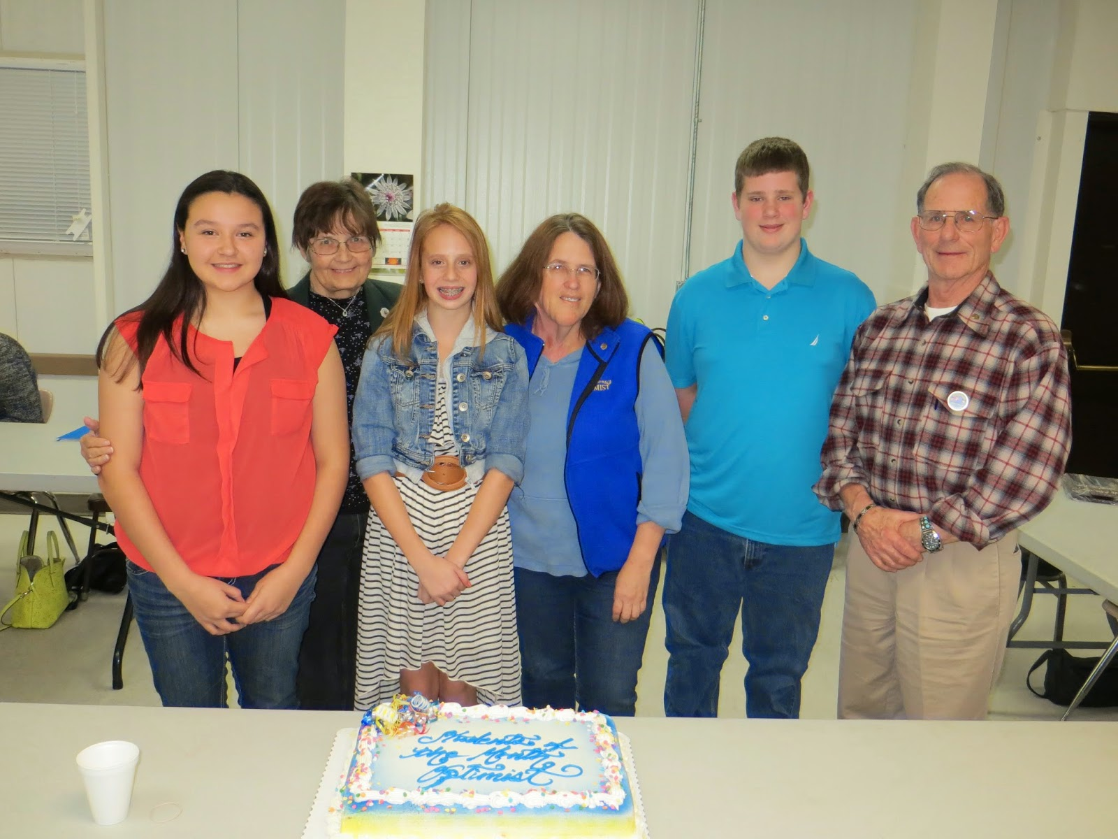 Optimist Club Student of the Month