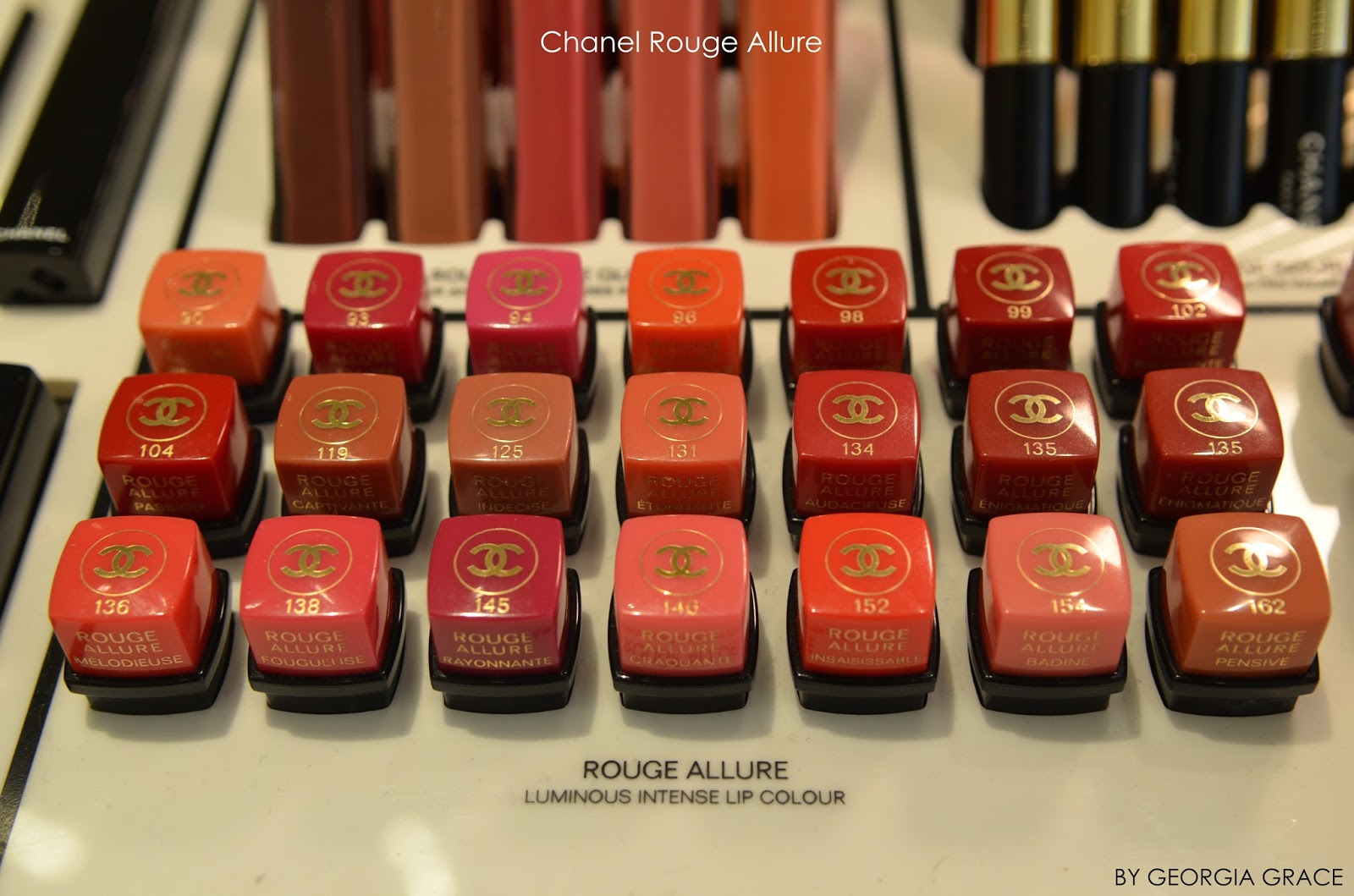 Chanel Rouge Allure Swatches All Shades