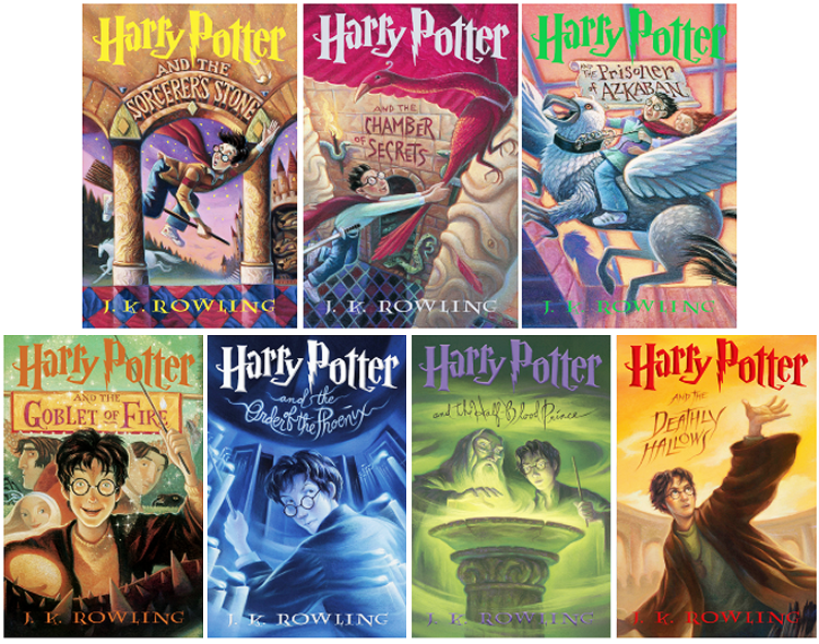 Harry Potter US Scholastic Book Covers