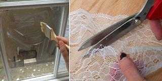 Κόβει μια δαντέλα και κολλάει τα κομμάτια στο παράθυρο. Το τελικό αποτέλεσμα; Άκρως εντυπωσιακό!