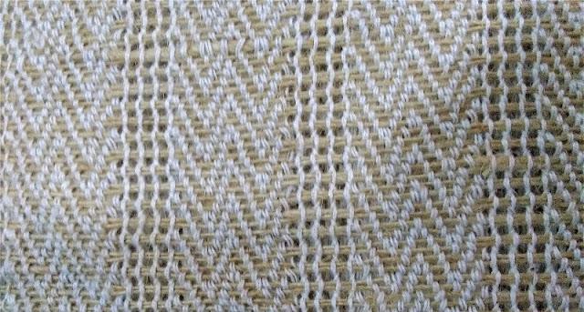 Herringbone fabric weave