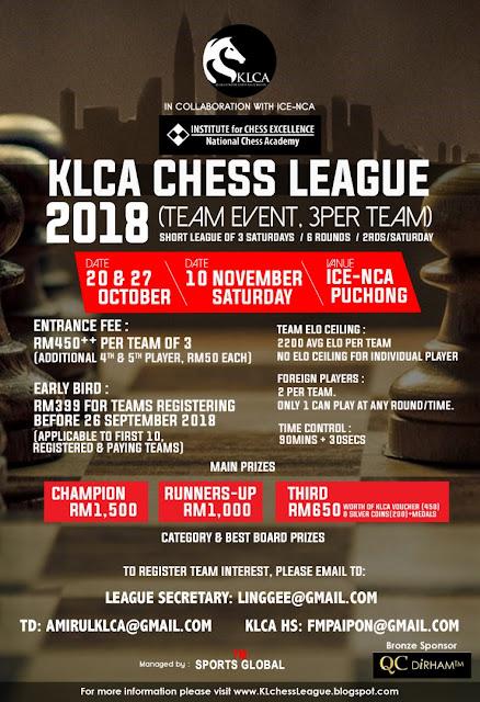 2018 KLCA CHESS LEAGUE