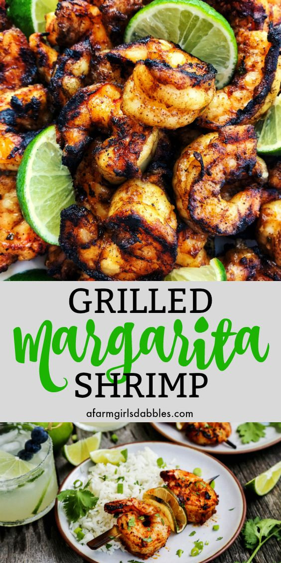 GRILLED MARGARITA SHRIMP KEBABS