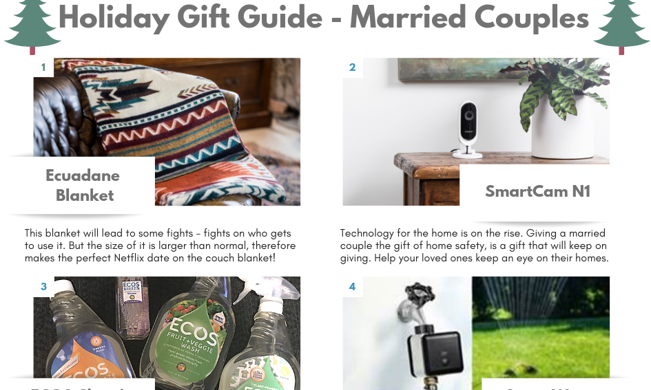 Gift Guide (Married Couples/Newlyweds)