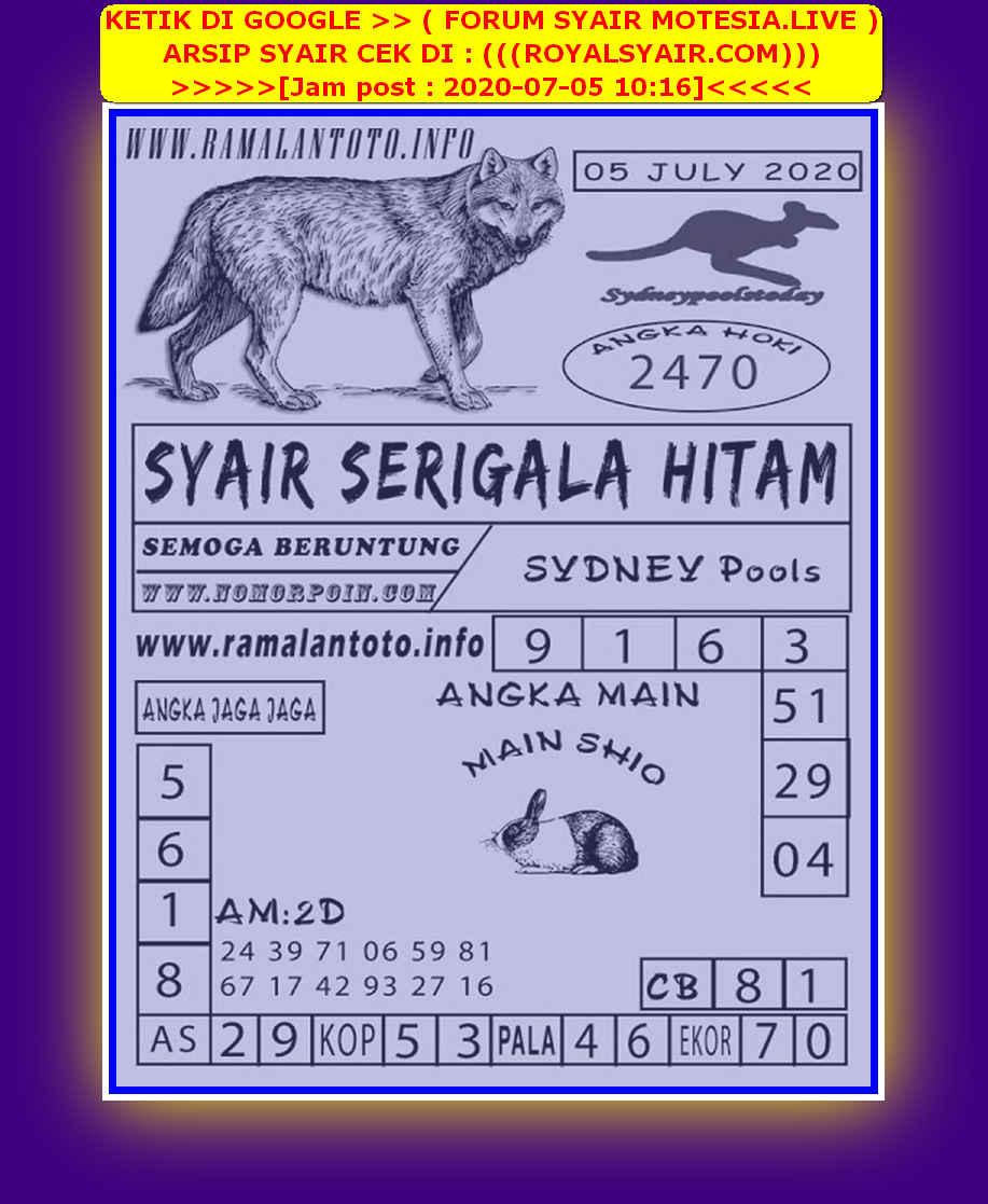 Kode syair Sydney Minggu 5 Juli 2020 87