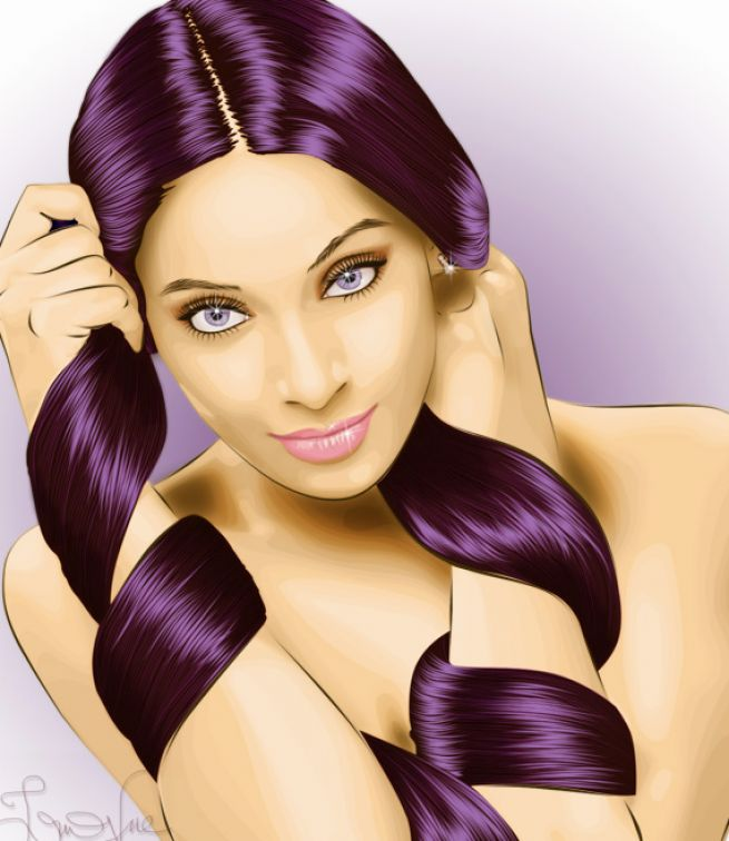 Short Bob Hairstyles Girls With Purple Hair Highlights