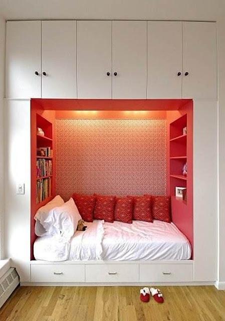 จัดห้องนอนเล็กๆ