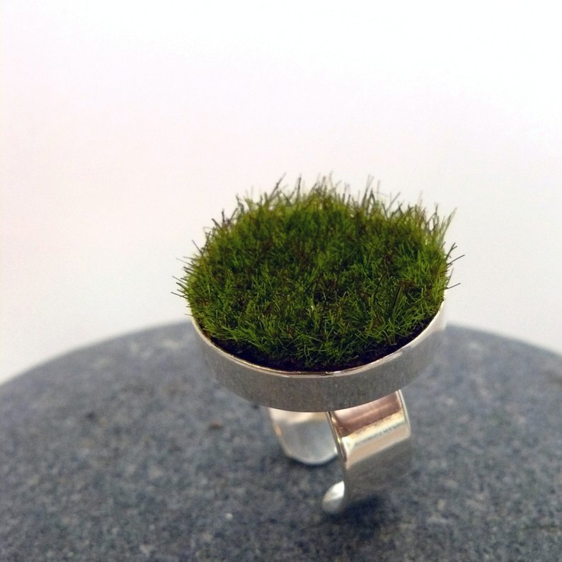 Ground Substance Gather Circle Moss Ring