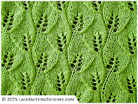 LACE KNITTING #10 | Overlapping Leaves stitch pattern
